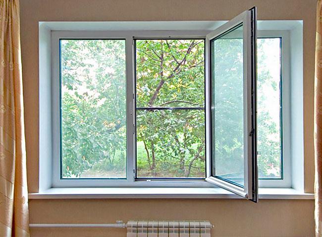 Пластиковое окно в зал